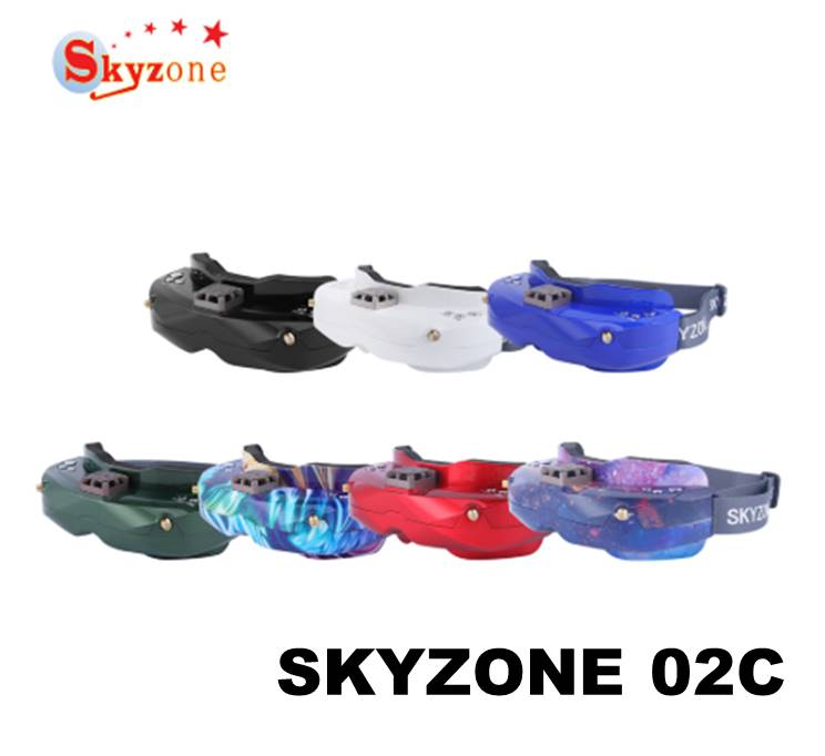 SKYZONE SKY02C 5 8Ghz 48CH Diversity FPV Goggles Support DVR HDMI Head Tracker Fan For RC