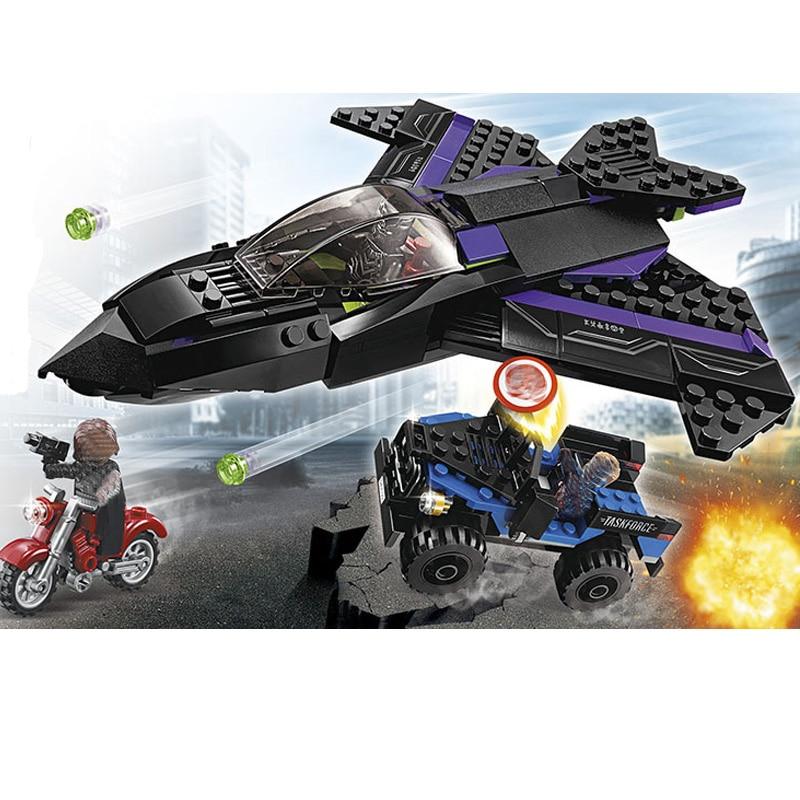 Decool 7122 Superheroes Avengers Black Panther Pursuit Compatible Marvel Avengers Endgame Figures Building Blocks 76047 in Blocks from Toys Hobbies