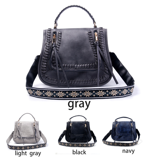 Faux Leather Retro Handbag With Wide Guitar Shoulder Strap Whole Blanks Crossbody Purse Free Shipping Dom106582