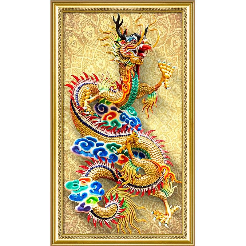 DIY Diamant Borduurwerk, Chinese stijl, draak, 5D, Diamond Schilderen, Kruissteek, 3D, diamant mozaïek, Decoratie, geschenken, NIEUWE-in Diamond Schilderen Kruissteek van Huis & Tuin op  Groep 1