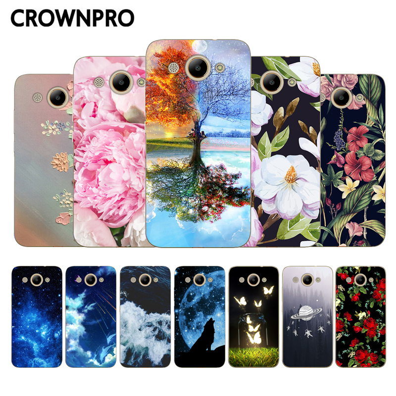 "CROWNPRO Huawei Y3 2017 Case Silicone 5.0"" Phone Case Huawei Y3 2017 TPU Fundas Y 3 2017 Back Cover Protector"