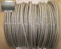50 M/lote Geral Diâmetro 4.0 MM Corda de Arame de Aço Inoxidável Com Revestimento de Plástico PVC (3.0 MM Cabo de aço Com 0.5 MM Coating)