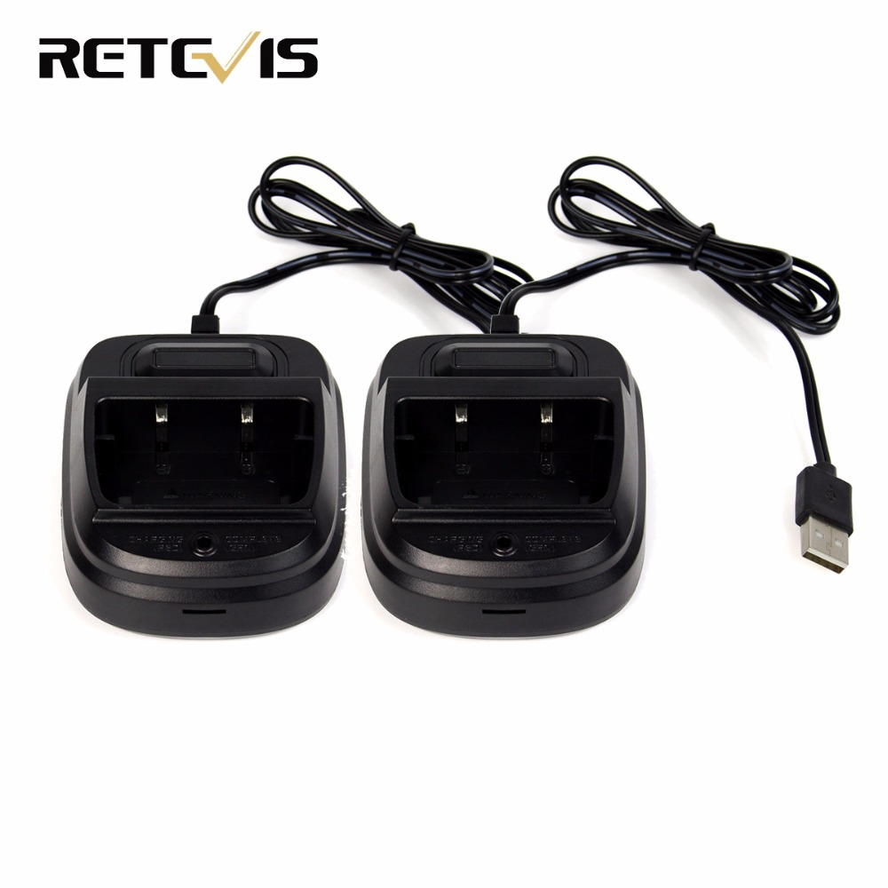 2pcs USB Charger Li-ion Battery Charger For Retevis RT7 Walkie Talkie J9111F