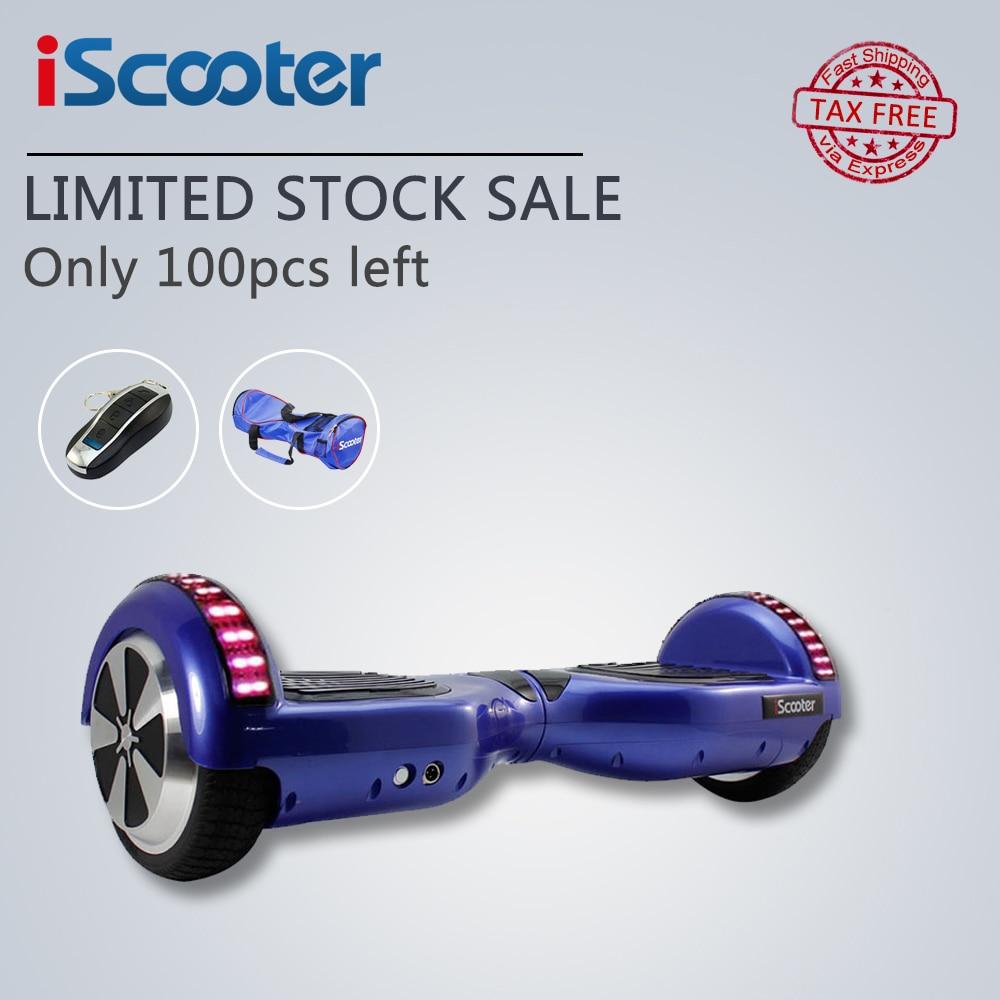 Цена за Iscooter ul2272 bluetooth электрический скейтборд hoverboard рулевого колеса smart 2 колеса самостоятельная баланс стоя скутер hover доска