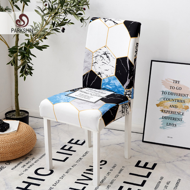 Parkshin 現代幾何学リムーバブル椅子カバーストレッチ弾性 Slipcovers レストラン結婚式のための宴会折りたたみホテル