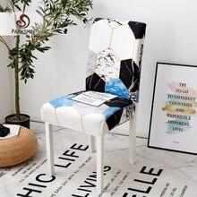 Parkshin moderne géométrique amovible housse de chaise extensible élastique housses Restaurant pour mariages Banquet pliant hôtel