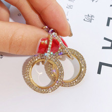 New design creative jewelry high-grade elegant crystal earrings round Gold and silver earrings wedding party earrings for woman стоимость