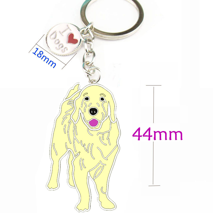 Golden Retriever PET Key ring  4