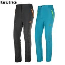 7a549049ed Ray Grace rápido seco ligero senderismo pantalones de verano al aire libre  de las mujeres al aire libre los hombres de pantalone.
