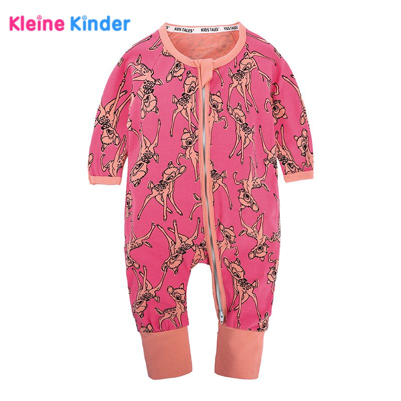 2018 Cute Spring Baby Rompers Baby Girl Long-sleeve Cotton Overalls Infant Baby Boy Clothes Onesie Sleepwear Jumpsuits Pajamas