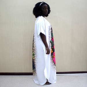 Image 4 - Fashion African Dashiki Long Dresses For Women Short Sleeve Casual Print African Clothes