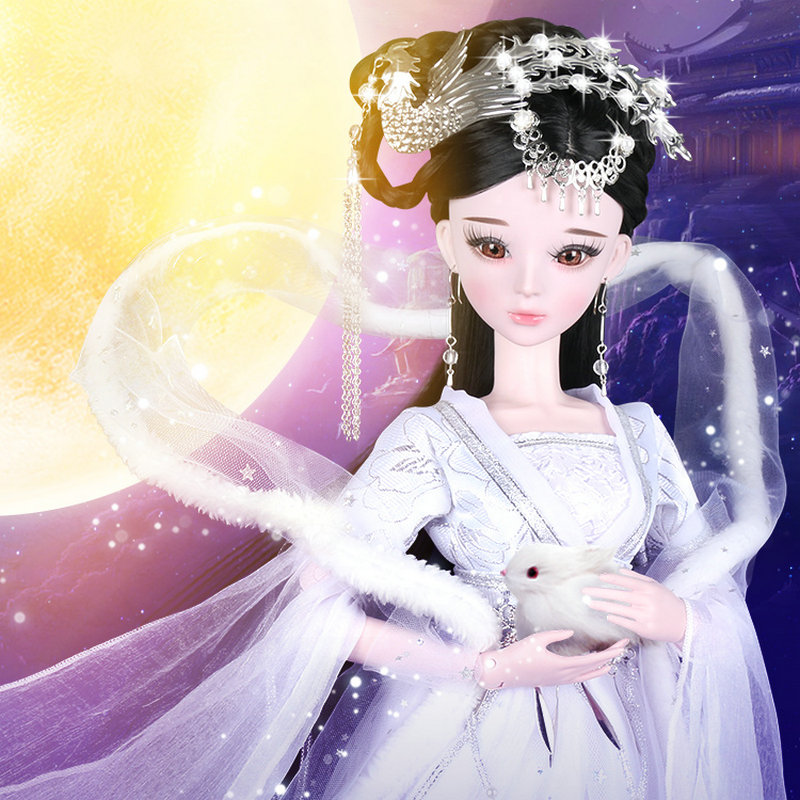 1/3 Bjd Doll Chang E Fairy Chinese Doll 60CM Handmade Beauty 23 Joint SD Dolls Girls Toys For Children Birthday Chirstmas Gift 60cm bjd 1 3 dolls 23 inches handmade fuyao baiqian huaqiangu doll large joint sd princess doll girls toys birthday gift