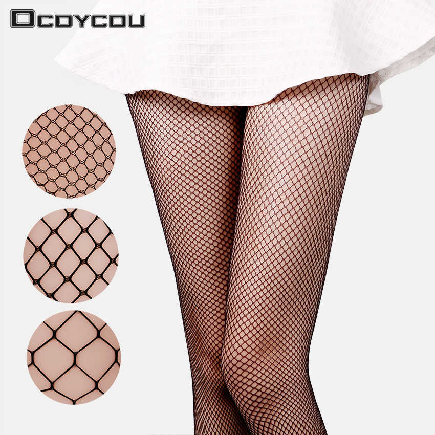 1PC Lady Women Sexy Pantyhose Mesh Fishnet Tights Long Stocking Step Foot Seam Pantyhose High Over the Knee Socks