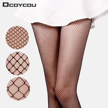 1PC Lady Women Sexy Pantyhose Mesh Fishnet Tights Long Stocking Step Foot Seam High Over the Knee Socks
