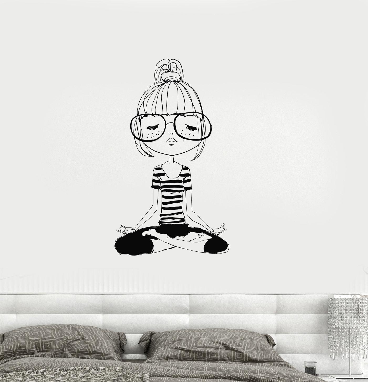 2016 nouveau vinyle decal yoga mditation teen girl chambre zen stickers muraux murale livraison gratuite