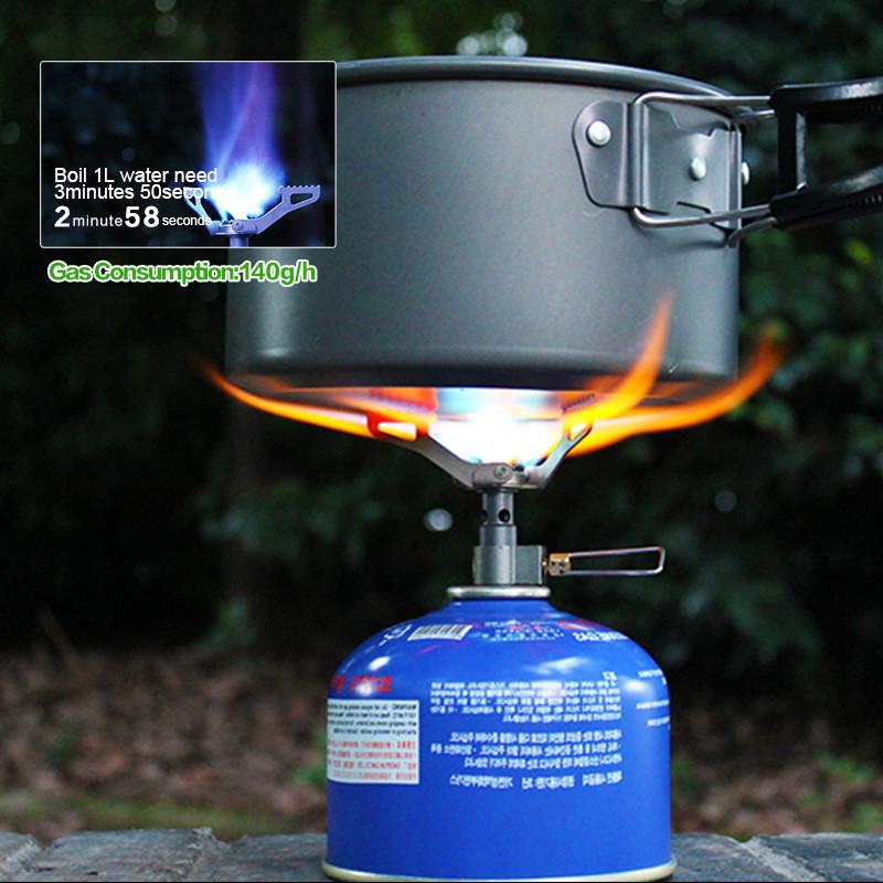 Ultra-light 25g Titanium Alloy Camping Stove Gas Burner Picnic Cookout