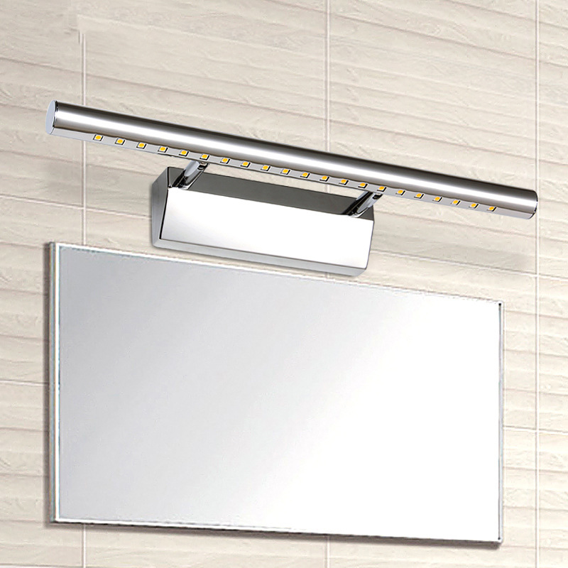 Modern LED Wall Lights Fixture in Bathroom Stainless Steel LED Mirror Light Over Mirror 3W 5W 7W 9W Indoor Lighting
