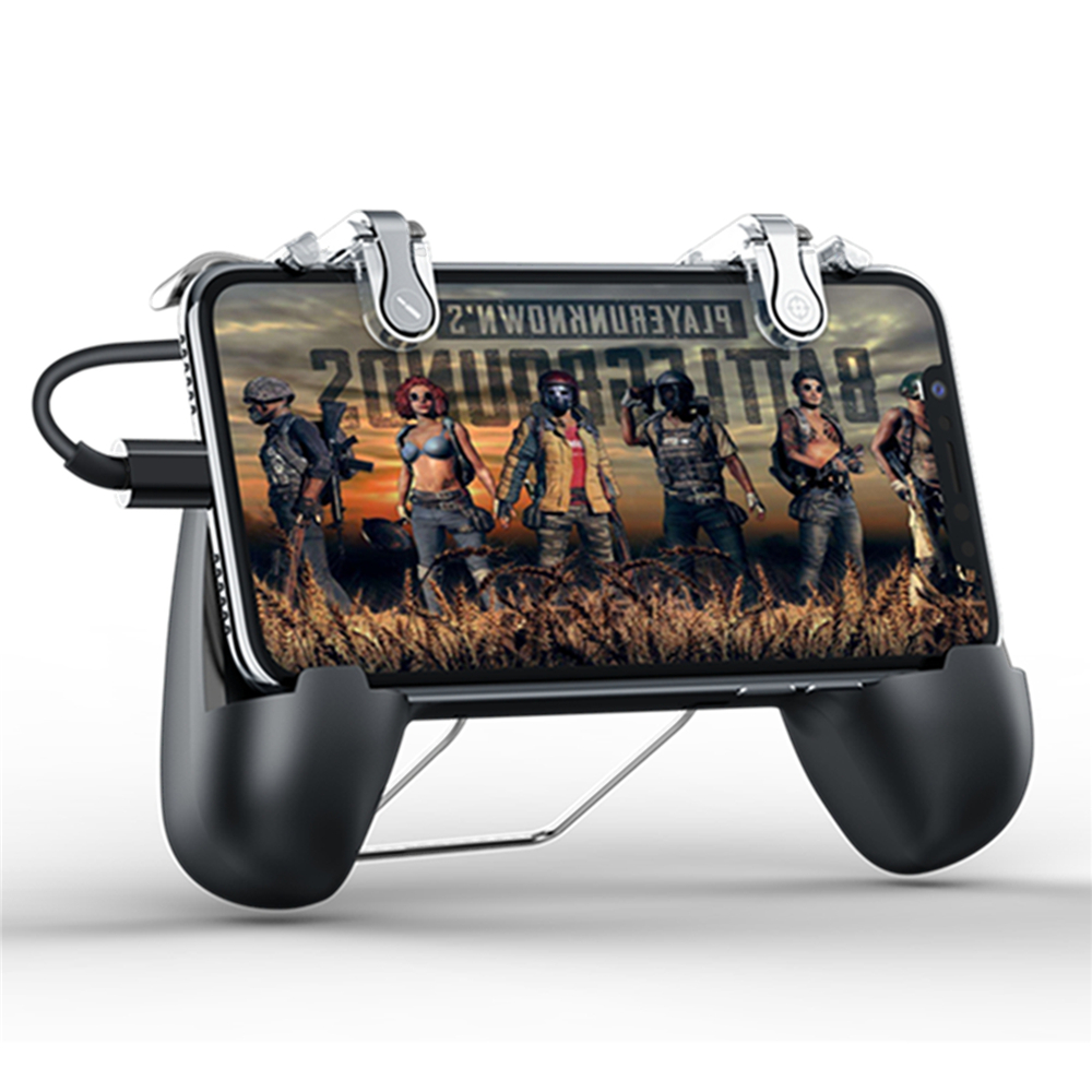 Mobile Phone PUBG Gamepad for iphone iOS & Android Smart Phones L1 R1 Game Shooter Controller Gamepad with Cooler Cooling Fan