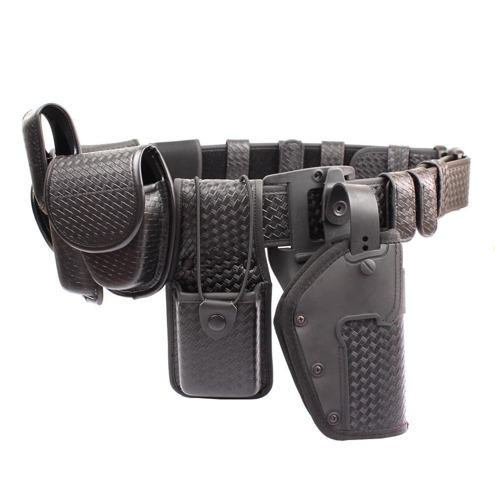 ROCOTACTICAL Police 10piece Duty Belt Rig Kit Includes Duty Belt Handcuff Case Radio Holder Belt Keepers MK4 Pouch Basketweave rocotactical basketweave police duty belt web duty belt with loop liner