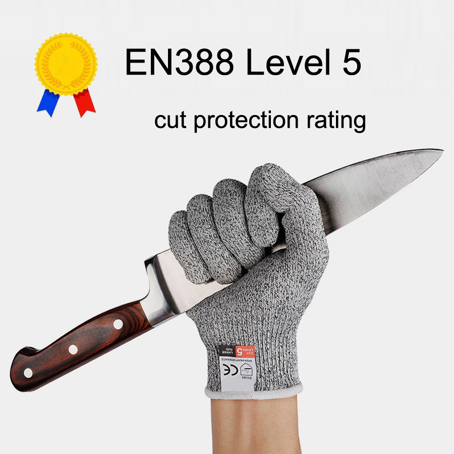 NEWBOLER Outdoor Fishing Gloves Hunting Gloves Cut Resistant Protective Knife Anti-cutting Protection Steel Wire Mesh Gloves protective gloves stainless steel low temperature protection gloves strong scratch glass knife self defense anti knife gloves