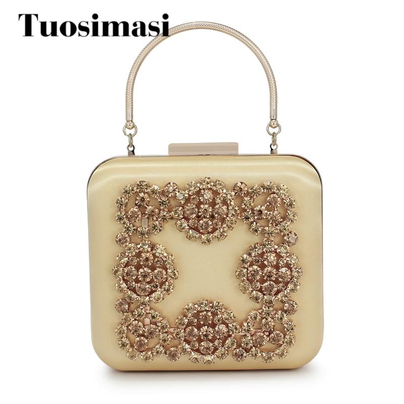 2018 Box Shape Evening Bags Luxury Diamond Women Day Clutch Bags Women Purses Crystal Beaded Wedding Party handbags(C1594)