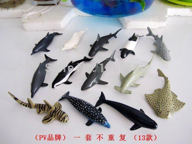 Whale Shark Toys : Set toy animal model pcs marine life shark whale ocean
