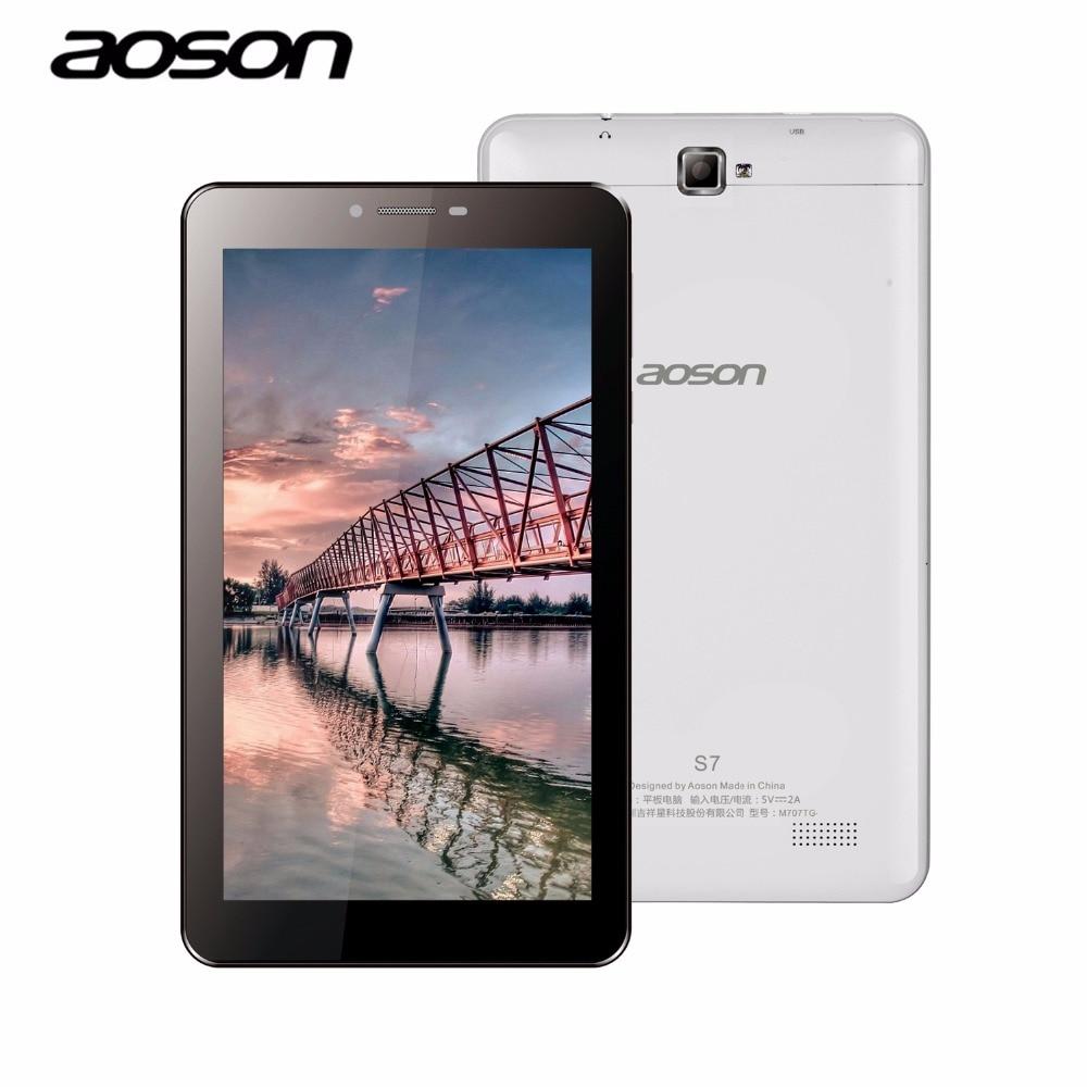 ФОТО Aoson S7 2G 3G 7 inch Phone Call Tablet PC Android 5.1 1024*600 1GB 8GB Quad Core Dual SIM Dual Cam GPS WIFI Bluetooth Phablet