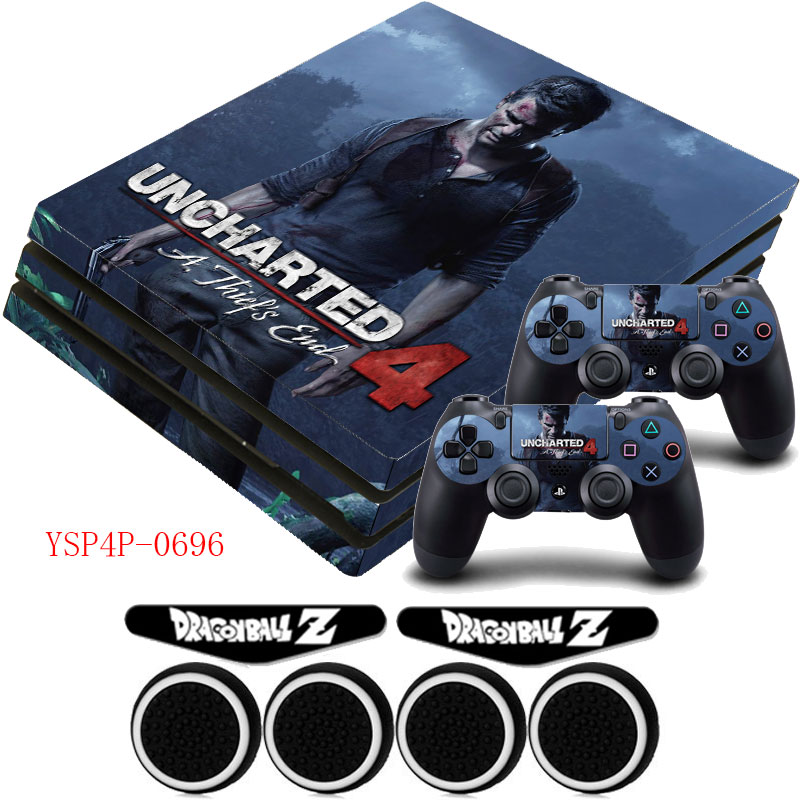 Uncharted 4 Ps4 Pro Vinyl Sticker Decal Host Sticker Controller