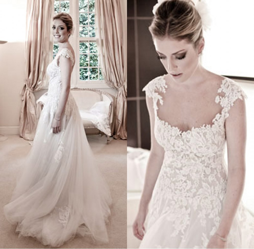 Sexy vestidos de noiva white 2014 wanda borges vintage for 3 in 1 wedding dress