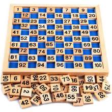 Funny Educational Toys Baby Wooden Mathematics Puzzle Digit Learning Education Child Wood Jigsaw Toy Number 1 to 100