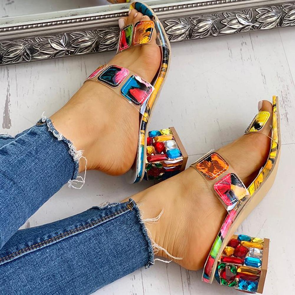 Heels Summer Women's Shoes Women Sandals Slippers Shoes Woman