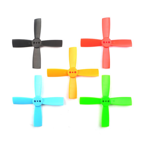1pack of 10Pairs <font><b>2035</b></font> 50mm 4 Blade ABS <font><b>Propellers</b></font> 1.5mm Mounting Hole For 80-110 FPV Racing Frame RC Accessories <font><b>Propellers</b></font> image