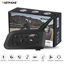 2019 V6 система внутренней связи для шлема Bluetooth гарнитуры мотоцикл ФИО Comunicador Capacete наушников Динамик для 6 гонщиков IP65 MP3 gps