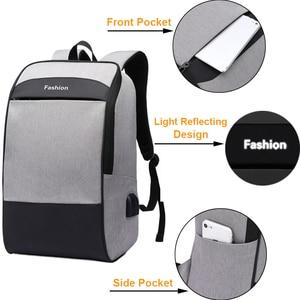 Image 4 - Men laptop backpack Anti theft backpack 15.6 Double USB large capacity backpacks waterproof bagpack men mochila hombre back pack