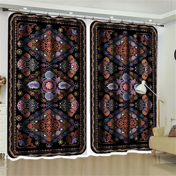 Moroccsn Decor Pattern Blackout Curtains for the Living Room Bedroom Kitchen Door Window Drapery Private Partition Fabric
