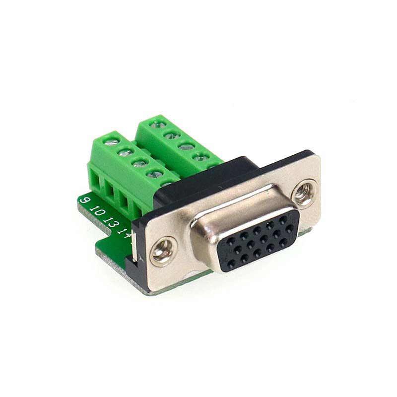 DB15 VGA مهايئ منفذ 3 صفوف 15 دبوس الذكور والإناث المنفذ التسلسلي موازية التوصيل