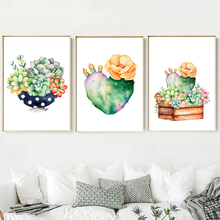 Cactus Succulent Pot Plant Nordic Poster And Prints Wall Art Canvas Painting Pictures For Living Room Bedroom Home Decor