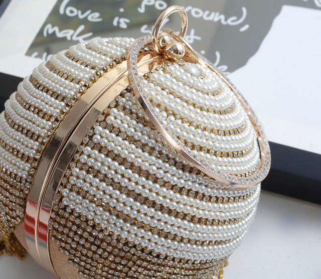 placeholder Rdywbu Best Price Diamond Tassel Pearl Beaded Clutch Bags Women  Handbag Luxury Full Pearl Wedding Party 5d4ef803281c