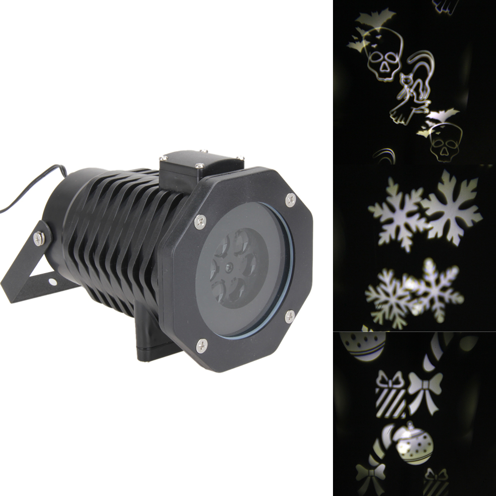 Snowflake Skull Moon and Star Laser Projector Lamps LED Stage Light Christmas Party Landscape Light Garden Lamp Outdoor Lighting недорого