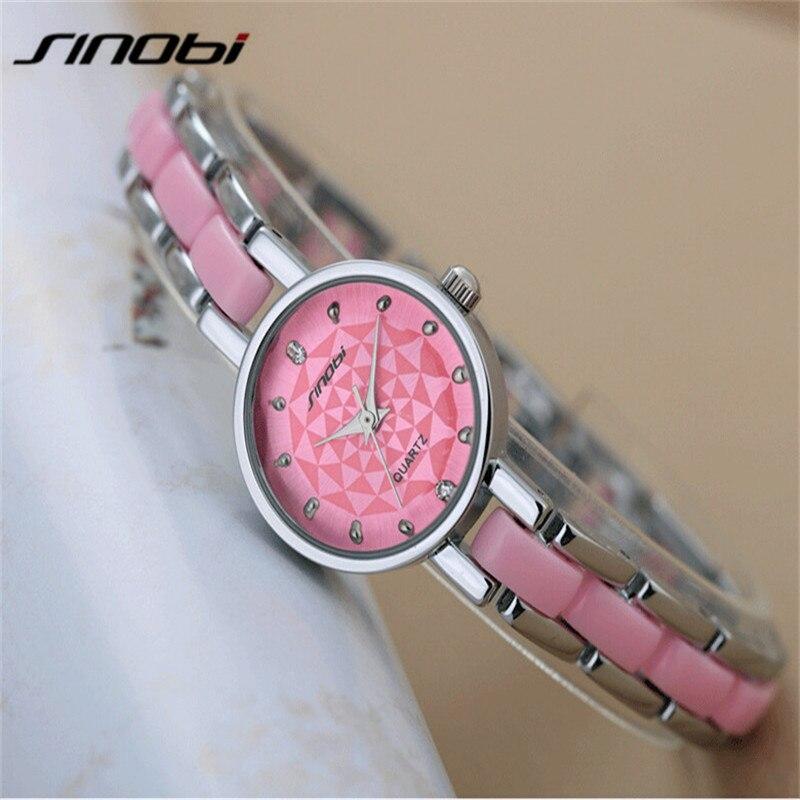 433a3e25d18e SINOBI Relojes Mujer Marque Quartz Montres Femmes De Luxe Diamant Robe  Fille Bracelet Montre Dames Horloge Femelle Montres AB2228