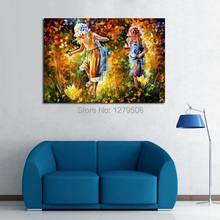 100%Handpainted Abstract Innocence Of Childhood Friends Knife Oil Painting On Canvas Thick For Home Decor As Best Gift