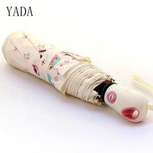 YADA Pink Porcelain Doll Umbrella Rain Women High Quality Automatic Car For Womens Windproof Folding Umbrellas YS012