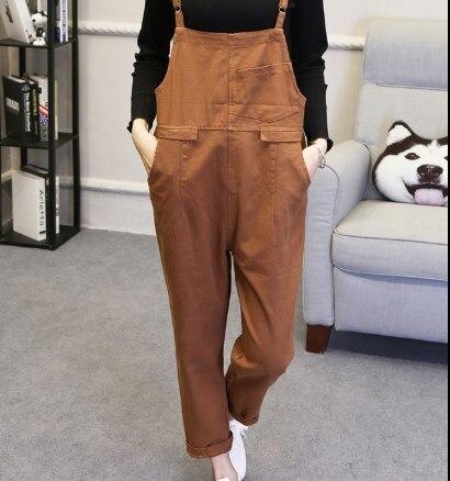 Femelle Sucrerie Décontracté marron Jeans De Denim Bib Salopette Pantalon rouge Combinaisons Couleur 2018 Noir Droite Sarouel Femmes Femme jaune x6PqfaIxw