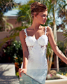 Joky Quaon Elegante Por Encargo de la Princesa Sirena Vestido de Novia Apliques Rebordear Perlas Magnífico Vestido Noiva Praia Ilhouettes