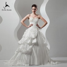 Eren Jossie 2019 Ivory Taffeta Ball Gown Wedding Dress
