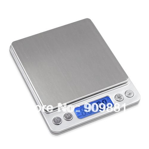 مقیاس جیب دیجیتال 3000 گرم 0.1 گرم مقیاس 3 کیلوگرم 0.1 مقیاس الکترونیکی آشپزخانه جواهرات رژیم غذایی رژیم غذایی وزن تراز با دو سینی 4 واحد