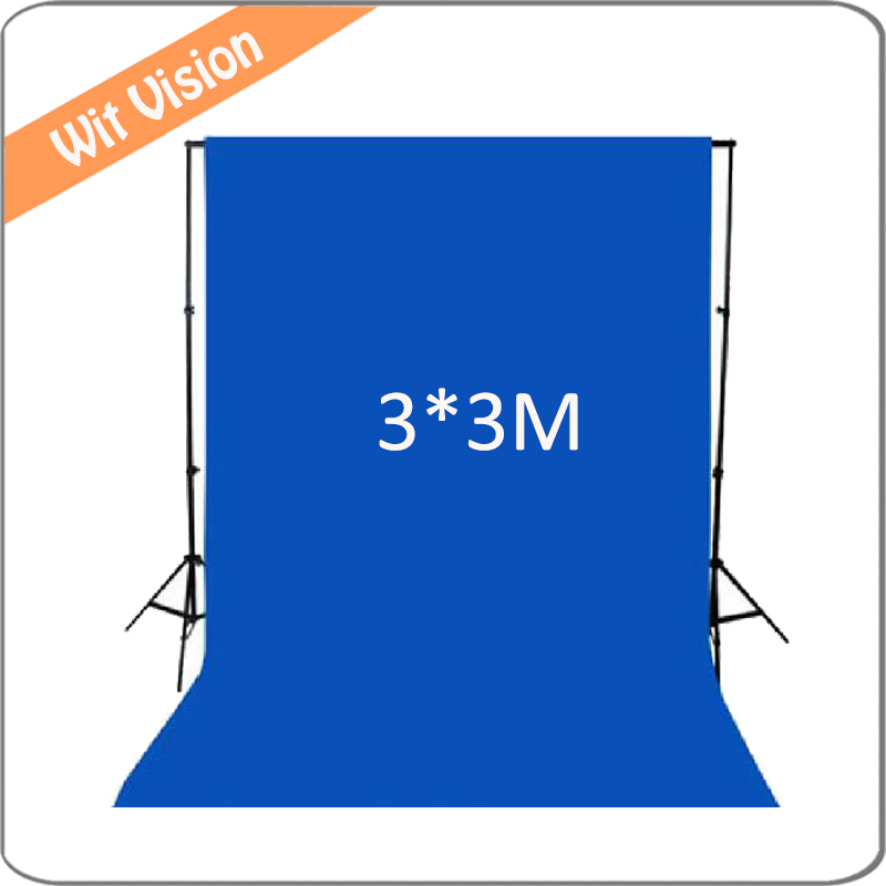 300*300CM Solid Blue Photography Backdrop Fabric Background for Photographic Lighting Studio дипкул гаммакс 300