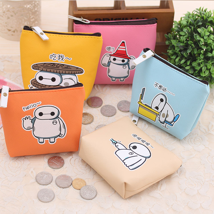 2016 Female students creative coin purse cute cartoon coin bag waterproof PU headphones small Zipper Change Wallet Card Holder
