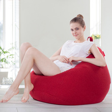 Lazy sofa bean bag fabric sofa simple color single sofa