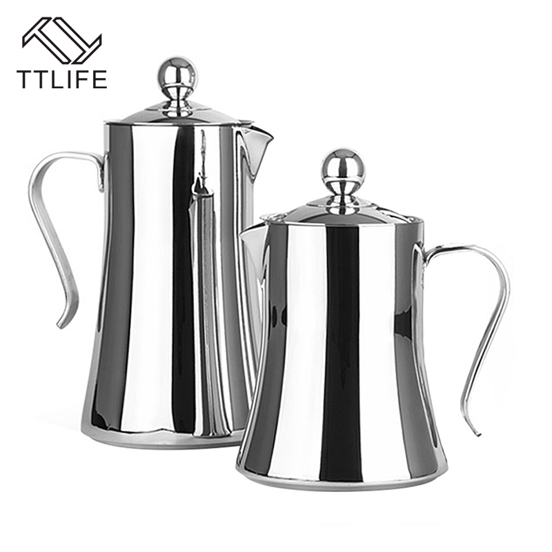 TTLIFE 2017 Hight Quality 1L 1 2L Coffee Maker 304 Stainless Steel French Press Coffee Tea
